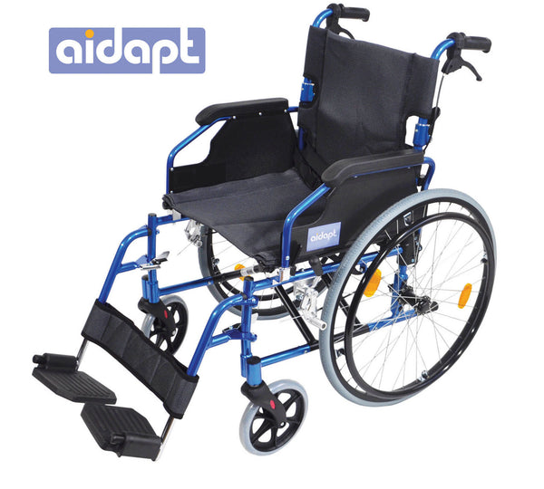 Self Propelled Aluminium Wheelchair blue