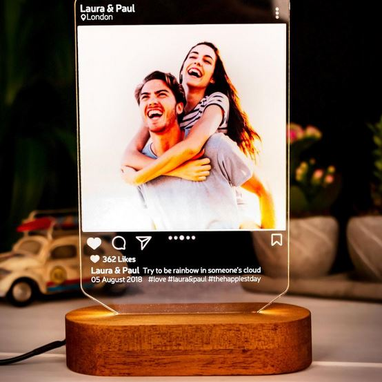 Personalized lamp, gift ideas for man, gift list for Valenetine 2021, best gift for him, unique gift for man