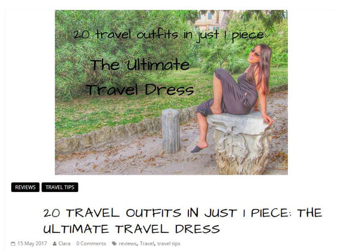 Clara on the road - Kameleon Rose (Ultimate Travel Dress) Review