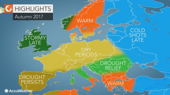 Weather in Europe, Autumn 2017
