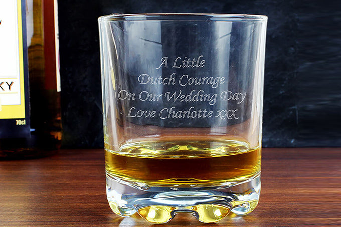 valentines day gift for him Personalised whisky tumbler