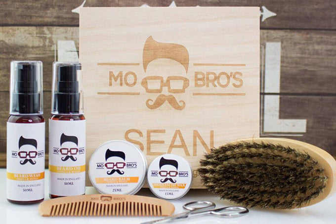 unique valentines day gift  for him Personalised beard grooming kit