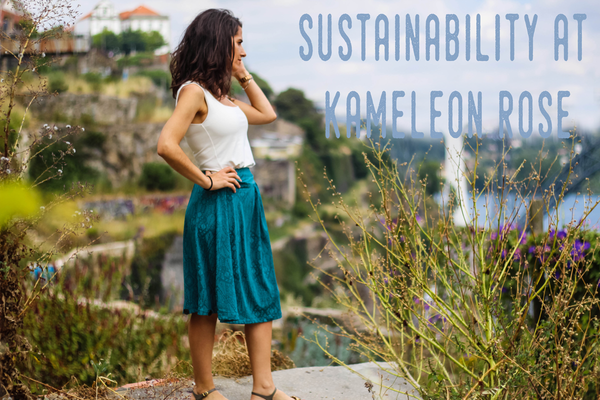 Sustainable travel clothes by kameleon rose, ultimate travel dress and sustainability, organic, vegan travel clothing for women