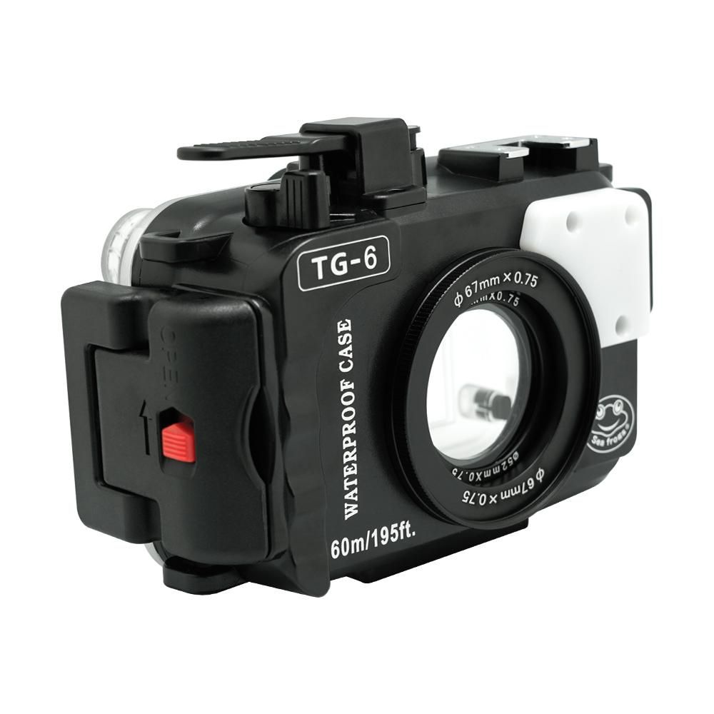 Sea Frogs Olympus TG-6 Sea Underwater Camera Housing (Black)