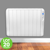 Futura Eco Panel Heater 24 Hour 7 Day Timer 2000W Wall Mounted Low Energy Electric Heater