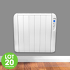 Futura Eco Panel Heater 24 Hour 7 Day Timer 1500W Wall Mounted Low Energy Electric Heater