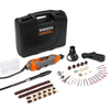 Terratek Rotary Multi Tool Kit 135W with 80pc Accessory Set & Storage Case