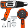 Terratek Pro 2000W Heat Gun Professional Hot Air Gun, Variable Temperature Control 80°C - 600°C