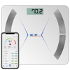 Heartline White Smart Precision Bluetooth Bathroom Scales iOS & Android