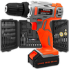 Cordless Drill Driver Kit, 18V/20V-Max Lithium-Ion Electric Screwdriver Complete with 89pc Tool & Accessory Set