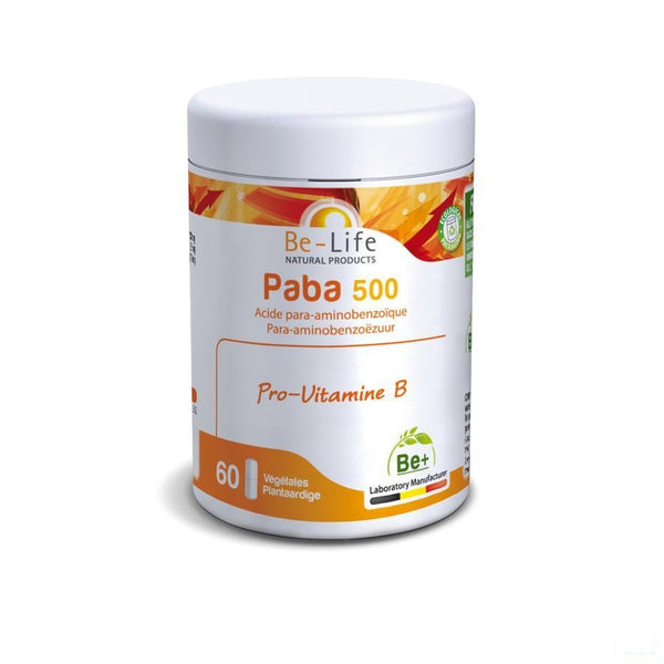 Paba Vitamines Be Life Gel 60x500mg - Bio Life Sprl - InstaCosmetic