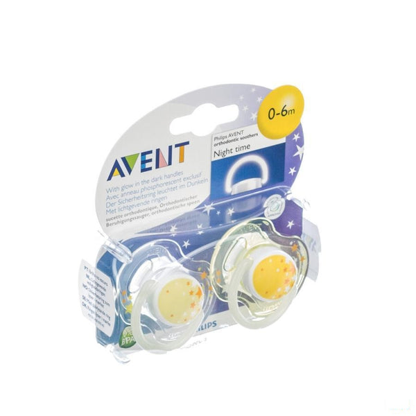 Avent Fopspeen Silicoon Nacht +3m 2 - Bomedys - InstaCosmetic