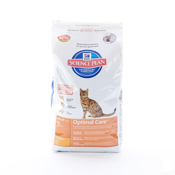 Hills Sc.plan Feline Adult Chicken 10kg 4296m - Hill's Pet Nutrition - InstaCosmetic