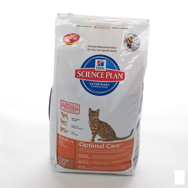 Hills Sc.plan Feline Adult Lamb 10kg 5144m - Hill's Pet Nutrition - InstaCosmetic