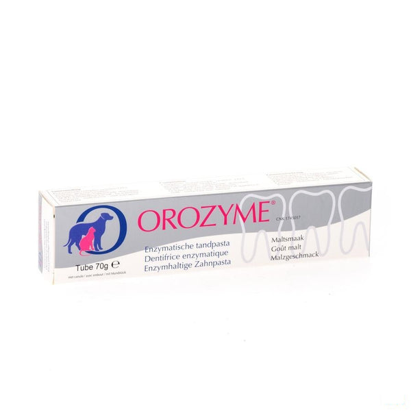 Orozyme Canine Tandp Enzymatisch Hond Tube 70g - Ecuphar Nv/sa - InstaCosmetic