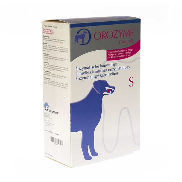 Orozyme Canine S Kauwstrips Enzym.hond <10kg 224g - Ecuphar Nv/sa - InstaCosmetic