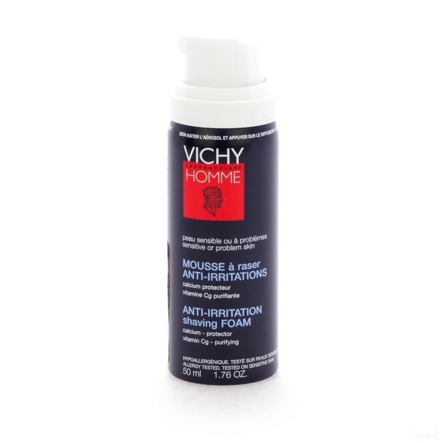 Vichy Homme Scheerschuim Anti Irritatie Travel 50ml