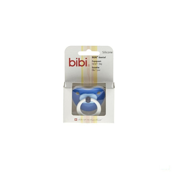Bibi Fopspeen Pop Dental Blauw 1dag 04 - Omega Pharma - InstaCosmetic