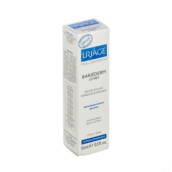 Uriage Bariederm Lippenbalsem Tube 15ml - Uriage - InstaCosmetic