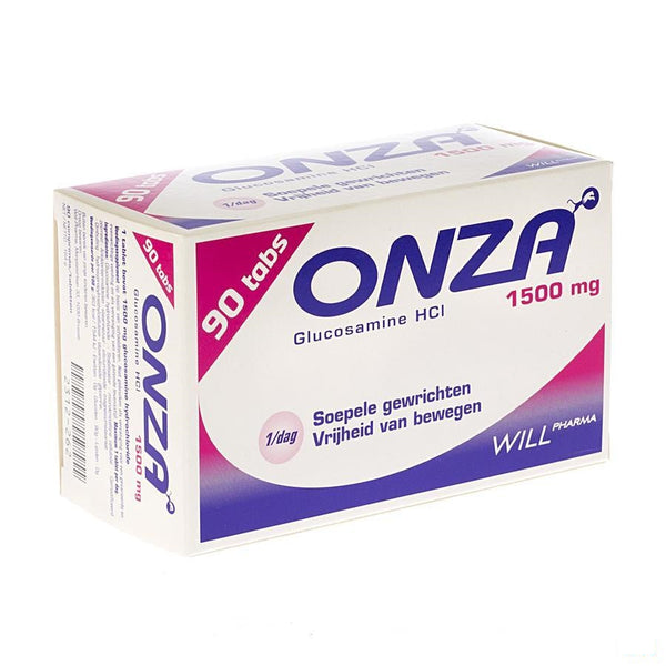 Onza 1500mg Soepele Gewrichten Tabletten 90 - Will Pharma - InstaCosmetic
