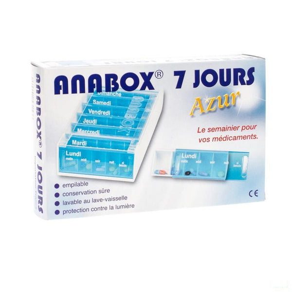 Anabox Pilulier Azur Fr 7 Jours - Fagron - InstaCosmetic