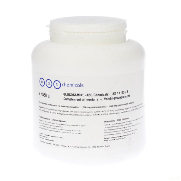 Glucosaminesulfaat 600g 2kci Tabletten 1200 Abc - Abc Chemicals - InstaCosmetic