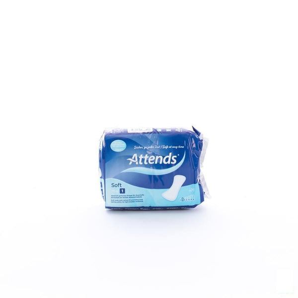 Attends Soft 1 Mini Inleg Anatom. 1x20 - Attends - InstaCosmetic