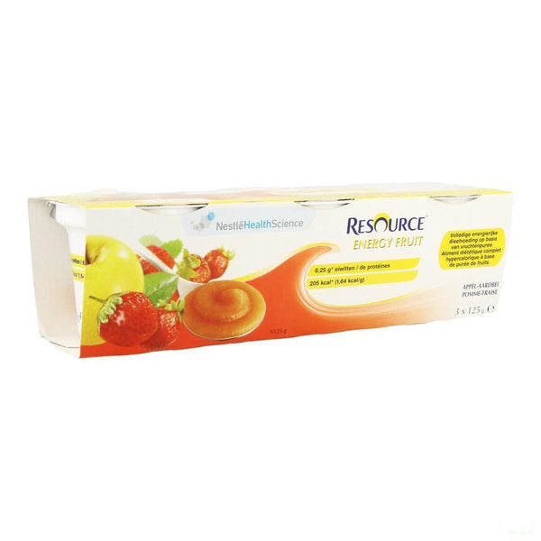 Resource Energy Fruit Appel-aardbei Cups 3x125g - Nestle - InstaCosmetic