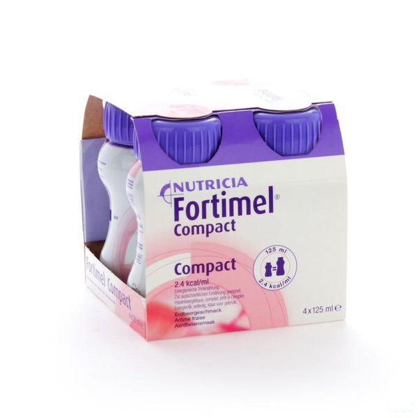 Fortimel Compact Aardbei 4x125ml - Nutricia - InstaCosmetic