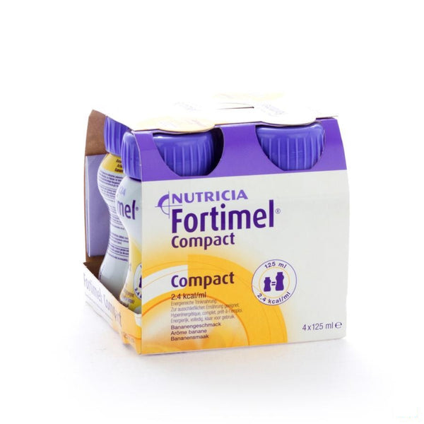 Fortimel Compact Banaan 4x125ml - Nutricia - InstaCosmetic