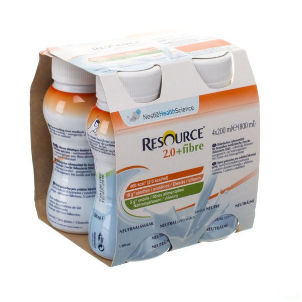 Resource 2.0 Fibre Neutraal 4x200ml 12100792 - Nestle - InstaCosmetic