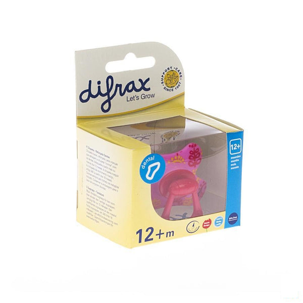Difrax Fopspeen Dental Semi Filled Girl +12m 346 - Difrax - InstaCosmetic