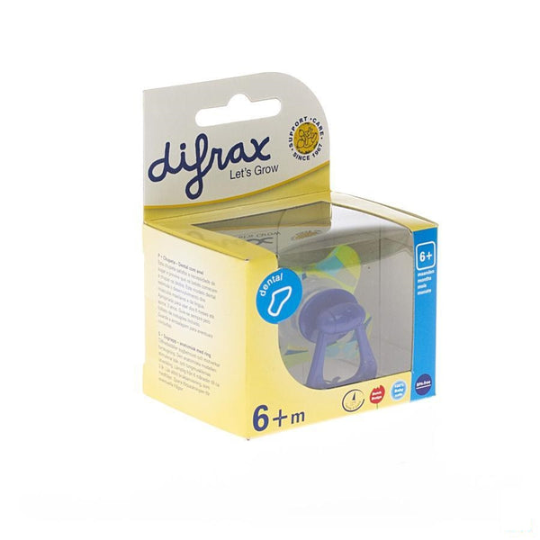 Difrax Fopspeen Sil Dental+ring Girl +6m 800 - Difrax - InstaCosmetic