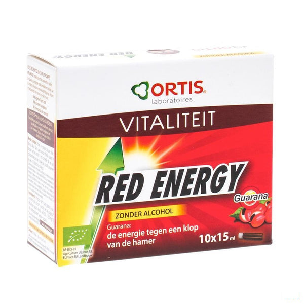 Ortis Red Energy Bio Z/alc 10x15ml - Ortis - InstaCosmetic