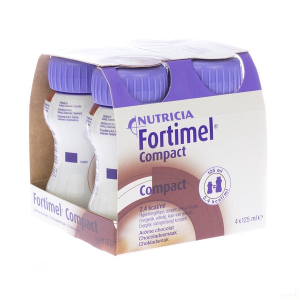 Fortimel Compact Chocolade 4x125ml - Nutricia - InstaCosmetic