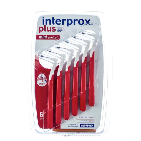 Interprox Plus Mini Conisch Interdentaal 6 1360 - Dentaid - InstaCosmetic