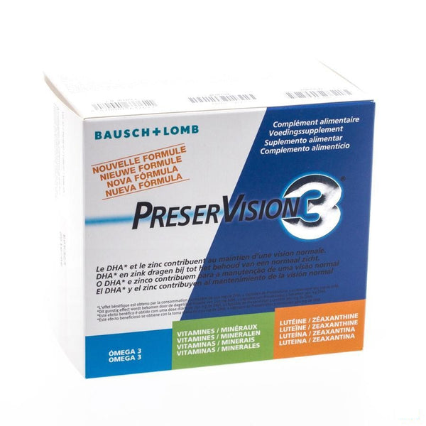 Preservision 3 Capsules 180 - Bausch & Lomb - InstaCosmetic