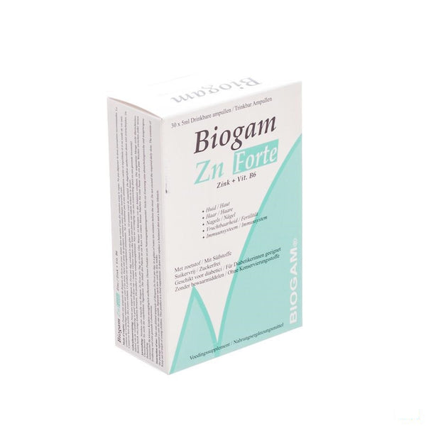 Biogam Zn Forte Drinkb. Amp 30x5ml - Sterop - InstaCosmetic