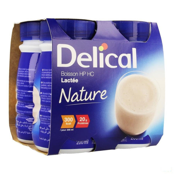 Delical Melkdrank Hp-hc Natuur 4x200ml - Bs Nutrition - InstaCosmetic