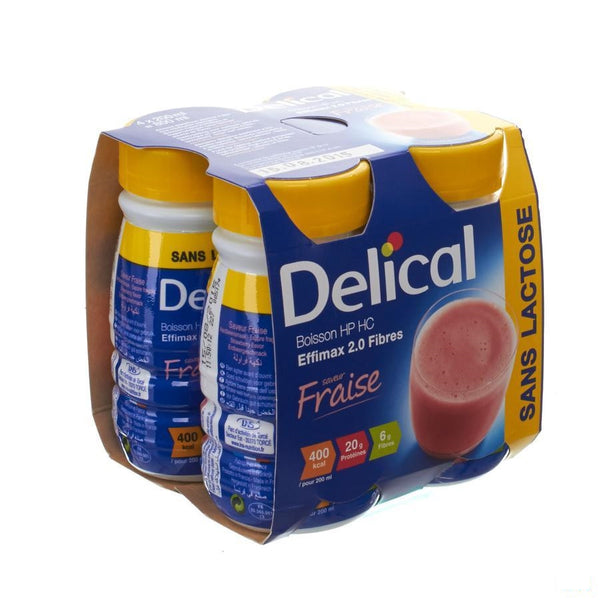 Delical Effimax 2.0 Vezels Aardbei 4x200ml - Bs Nutrition - InstaCosmetic