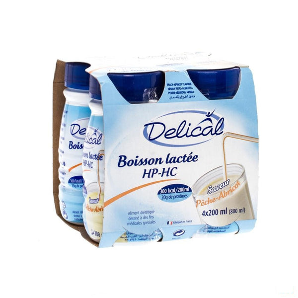 Delical Melkdrank Hp-hc Perzik-abrikoos 4x200ml - Bs Nutrition - InstaCosmetic