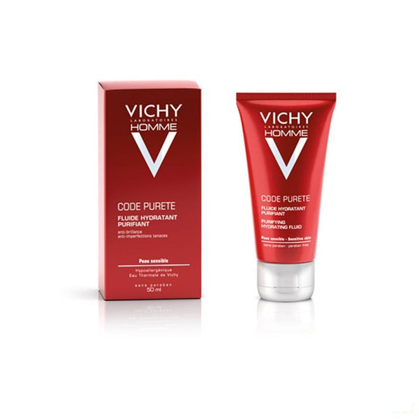 Vichy Homme Code Purete Fluide 50ml - Vichy - InstaCosmetic