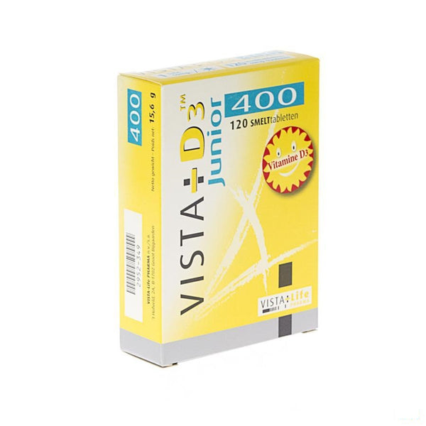 Vista D3 400 Junior Smelttabletten 120 - Vista-life Pharma - InstaCosmetic