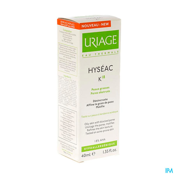 Uriage Hyseac K18 Tube 40ml - Uriage - InstaCosmetic