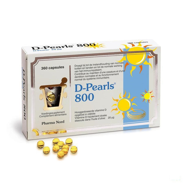 D-pearls 800 Capsules 360 - Pharma Nord - InstaCosmetic