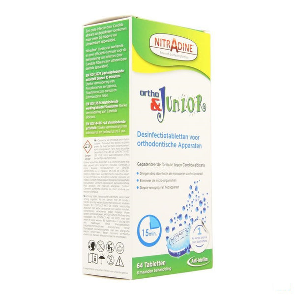 Nitradine Ortho & Junior Tabl 64 - Dental Care Products - InstaCosmetic