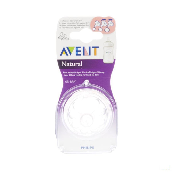 Avent Natural Zuigspeen Medium 3gaatjes 2 - Bomedys - InstaCosmetic