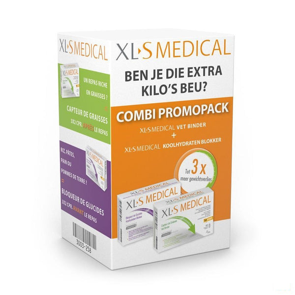 XLS Medical Startpack Vetbinder + Koolhydratenblokker 60 Tabletten - Omega Pharma - InstaCosmetic