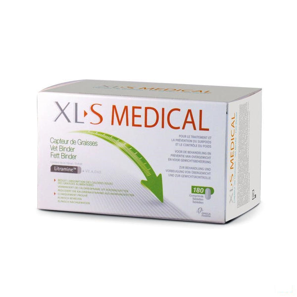 Xls Medical Vetbinder Tabletten 180 - Omega Pharma - InstaCosmetic