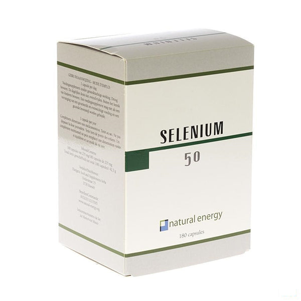 Selenium 50 Natural Energy Capsules 180